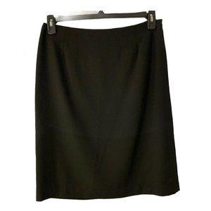Ralph Lauren Skirt size 10 Black 100% Wool Lined